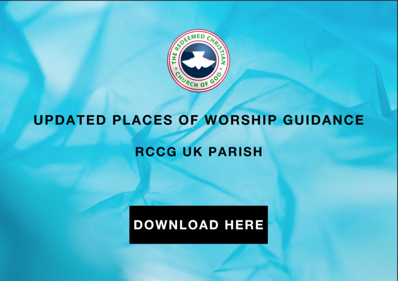 PLACE OF WORSHIP GUIDANCE
